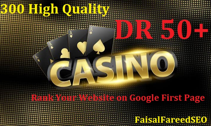 Get 300 DR 60-50+ high quality casino gambling poker and betting sites.