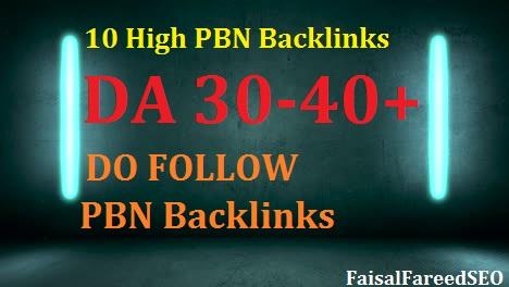 10 high DA 30 to 40+ homepage high quality pbn backlinks