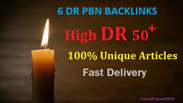6 DR 65 to 50+ permanent homepage high quality pbn backlinks