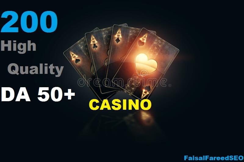 Get 200 DA 60-50+ High quality gambling, poker, Judi related sites.