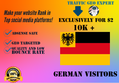 I will boost your websites and online stores by sending organic 5000 German visitors