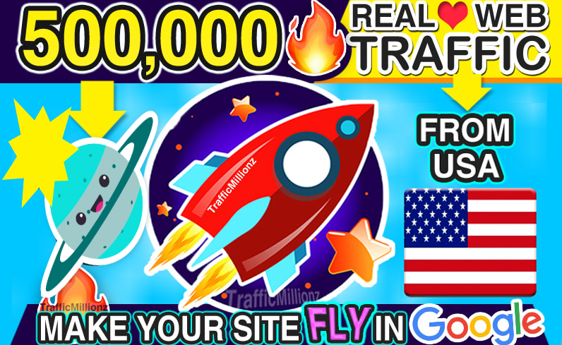 I will send real 500,000 USA web traffic visitors to your website