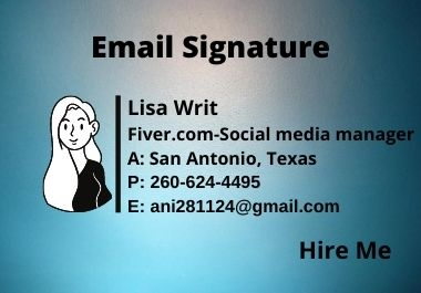 I will provide clickable Email Signature