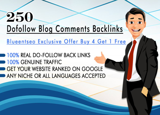 Create 250 dofollow blog comments backlinks