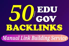 Add create 50 edu gov high authority SEO link building backlink