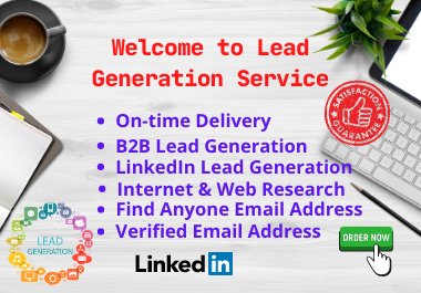 Get B2B lead generation,  web research and email list building for your business