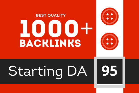 Best quality 1025+ backlinks from top domain for you