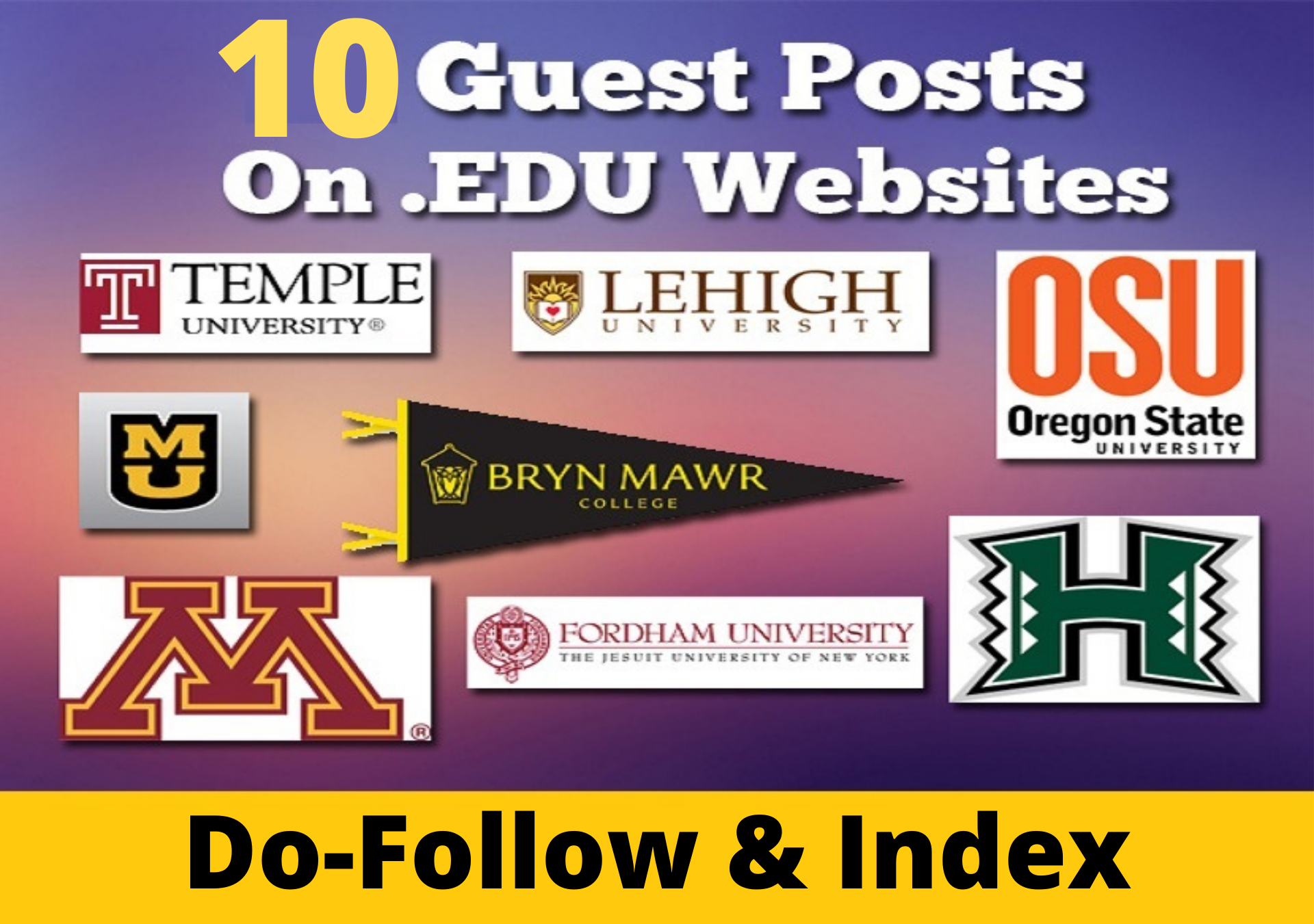 10 Premium edu guest post from top 10 university sites