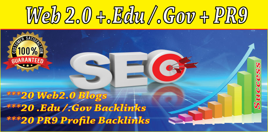 White hat SEO 1 ranking method with web2.0/. edu. gov/pr9 profile backlinks