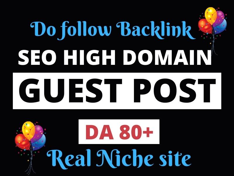 I will create SEO backlinks through high da guest posts high authority link building