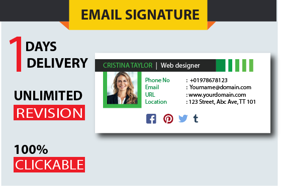 Clickable Email signature Fast