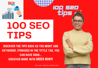 Get 100 SEO TIPS Ebook that will really help you in Ranking
