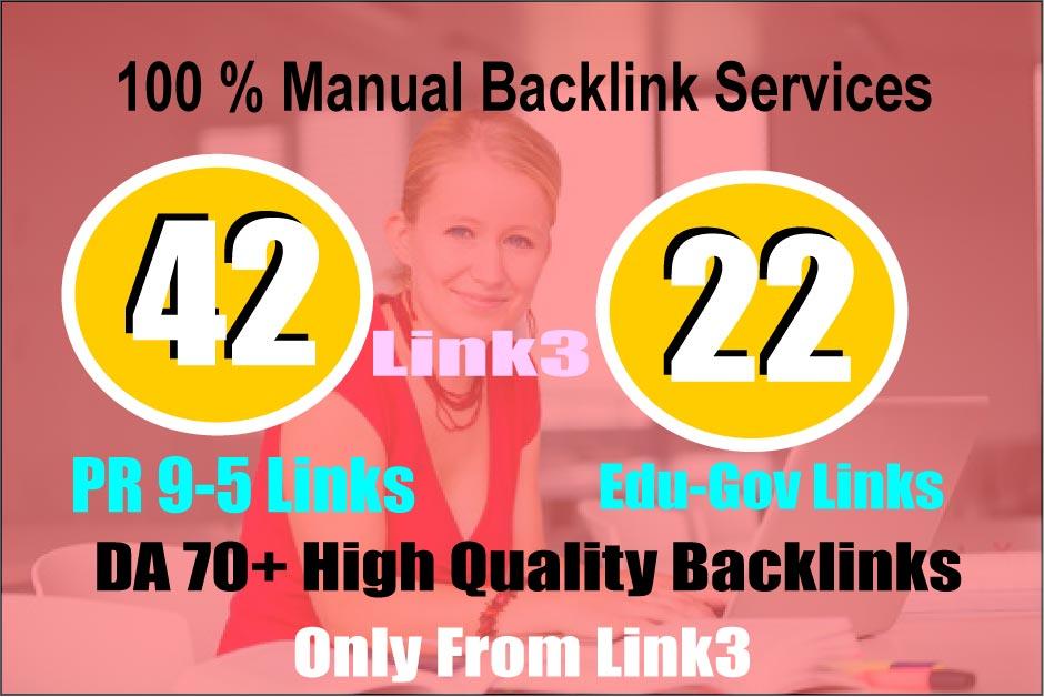 create 42 PR 9-5 + 20 EDU-Gov Backlinks,  Skyrocket Your Ranking