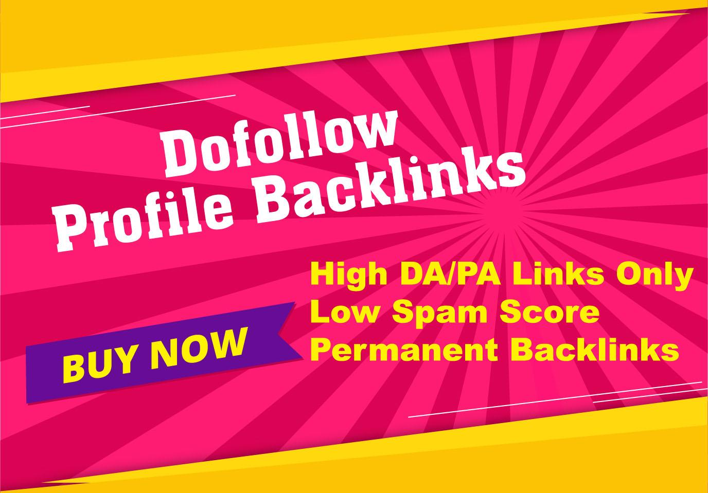 I will do Manually 100 High Quality Dofollow Profile Backlinks