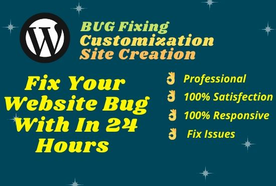 I will fix website errors,  elementor bugs,  woocommerce errors within 24 hour