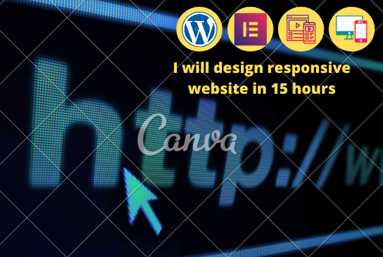I will design a responsive website within one day