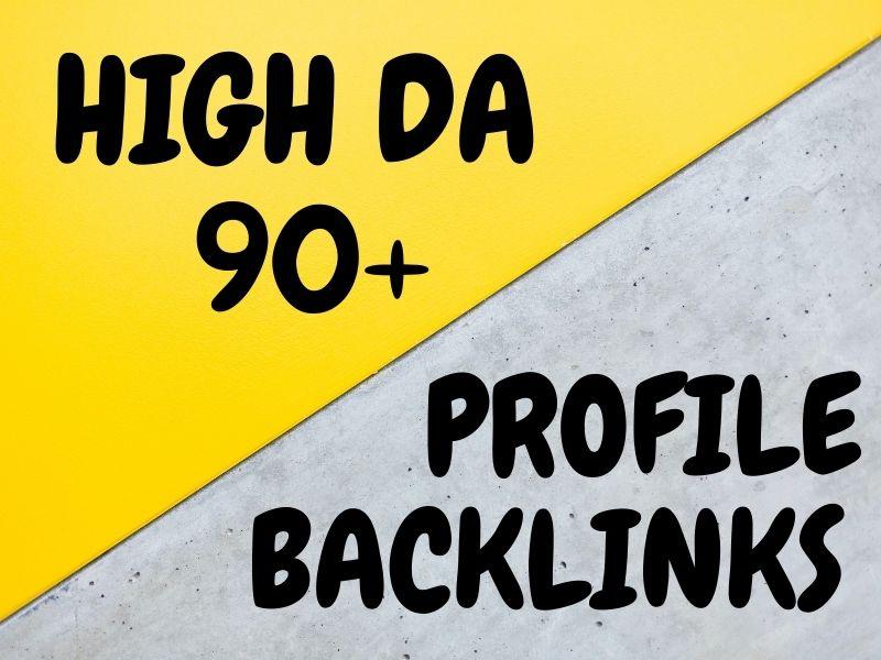 I Will do 60 high-quality profile creation backlinks with high DA
