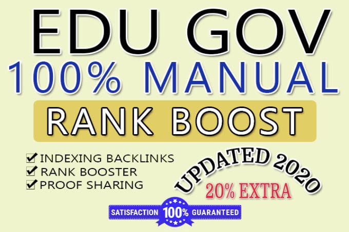 50 high authority dofollow SEO edu backlinks