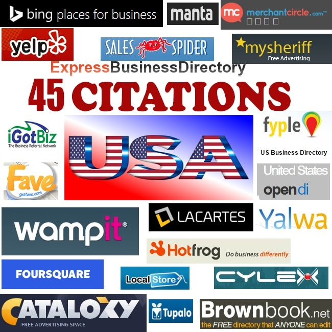 I will build 45 top USA local citations
