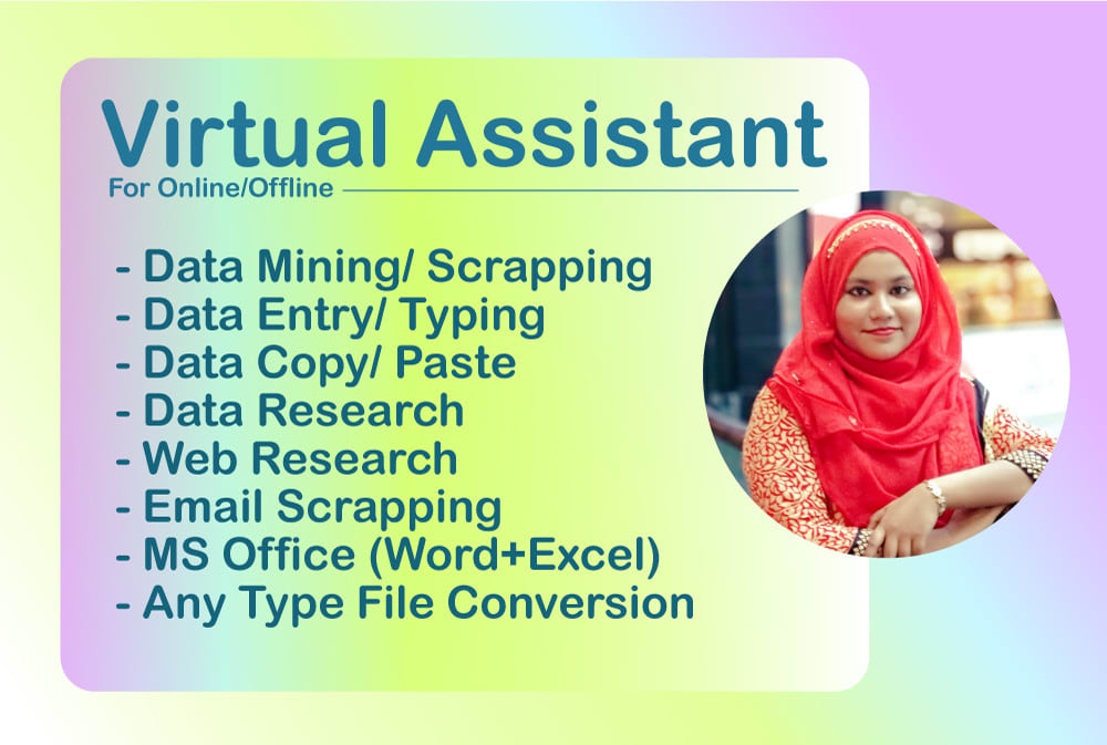 Do you need virtual assistant, I'm here for you.