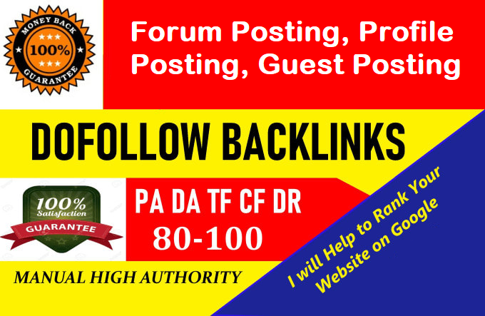 Get do follow backlink from 80+ DR/DA website