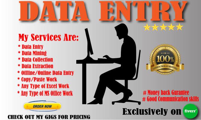 I will data entry,  copy paste and excel data entry & Student Data entry