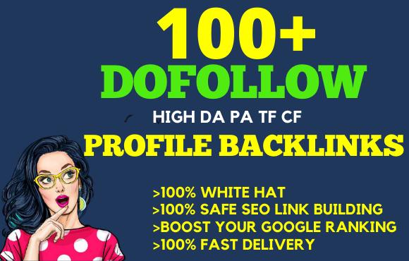 I will do 100 high da dofollow SEO profile backlinks