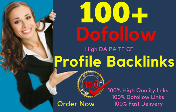 I will create manually 100 dofollow profile backlinks For your website