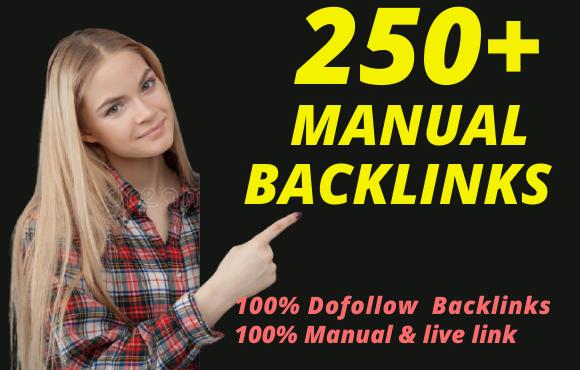 manually create 250+ DA90 and PR9 high quality dofollow profile baklinks