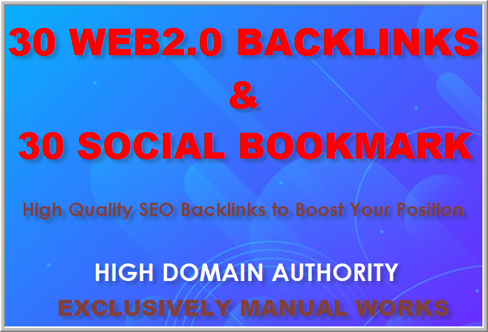 Professional Manual Link Builders Get 30 Web2.0 and 30 Social Bookmarking Backlinks