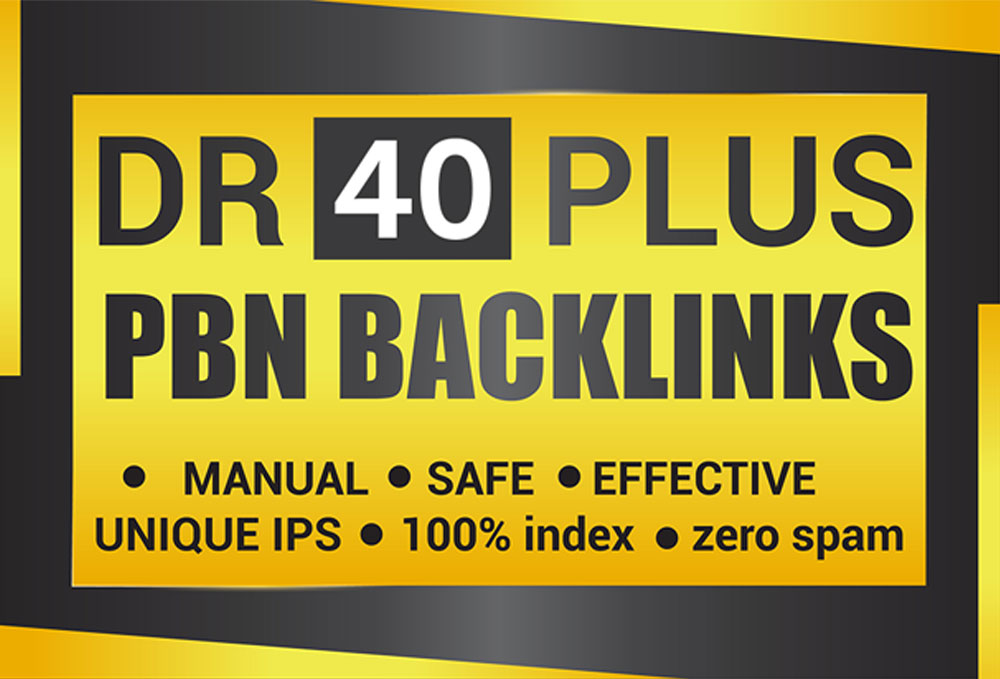 Permanent 10 DR 40 Plus Homepage High Quality PBN Backlinks