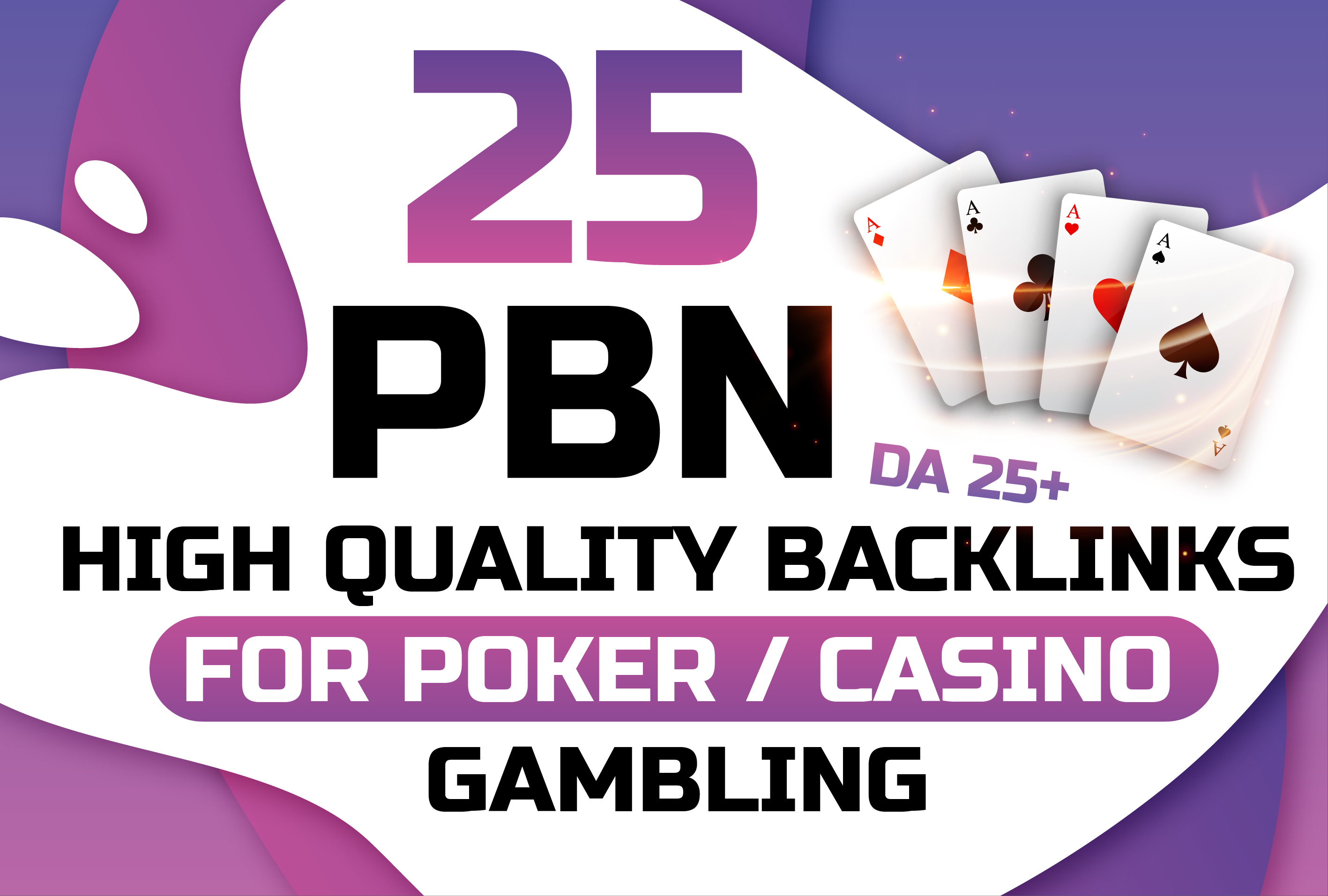 25 Premium Quality CASINO/GAMBLING/POKER PBNs Traffic with Quick delivery