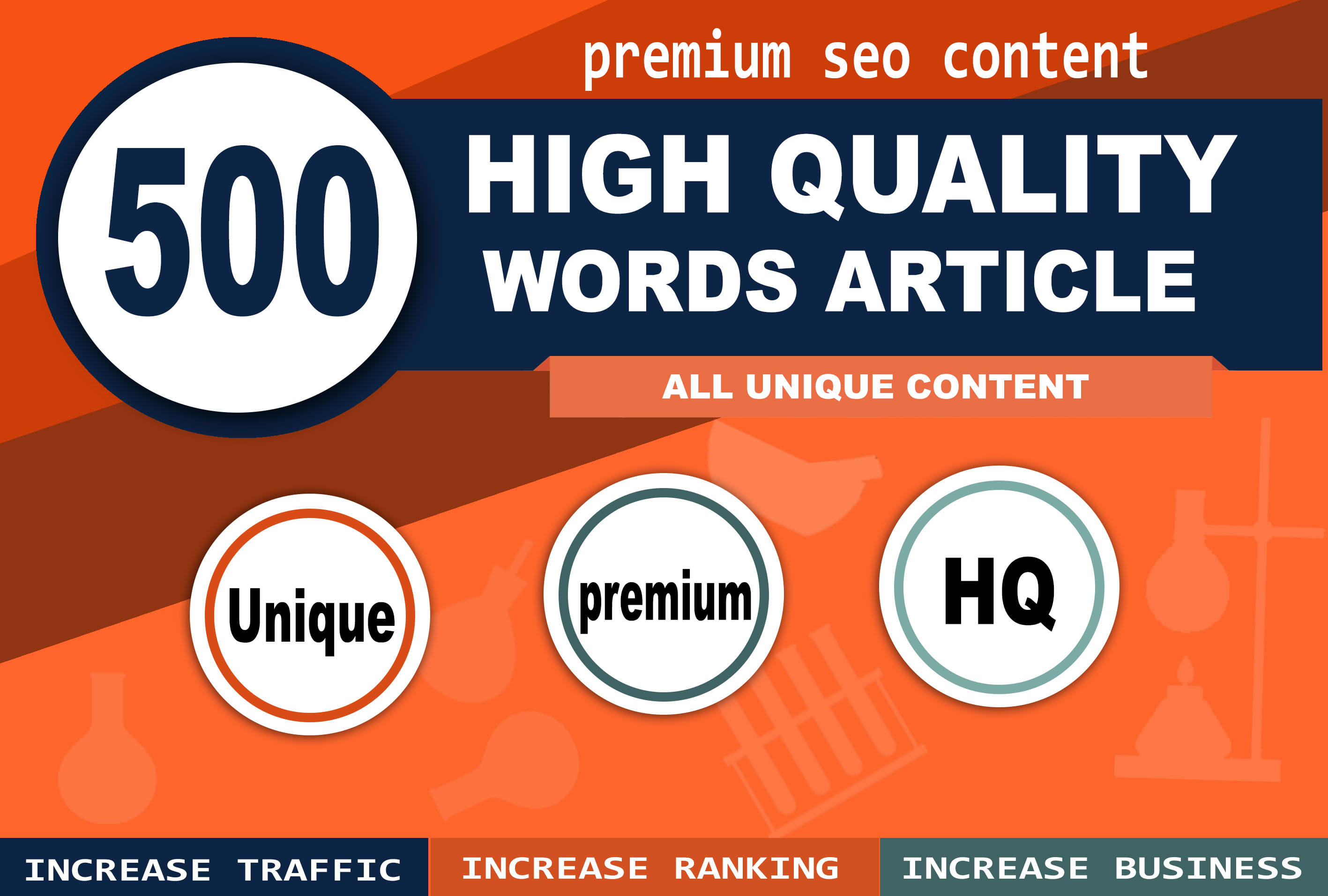 I will write 500 words high quality articles, content writing, research on any topic