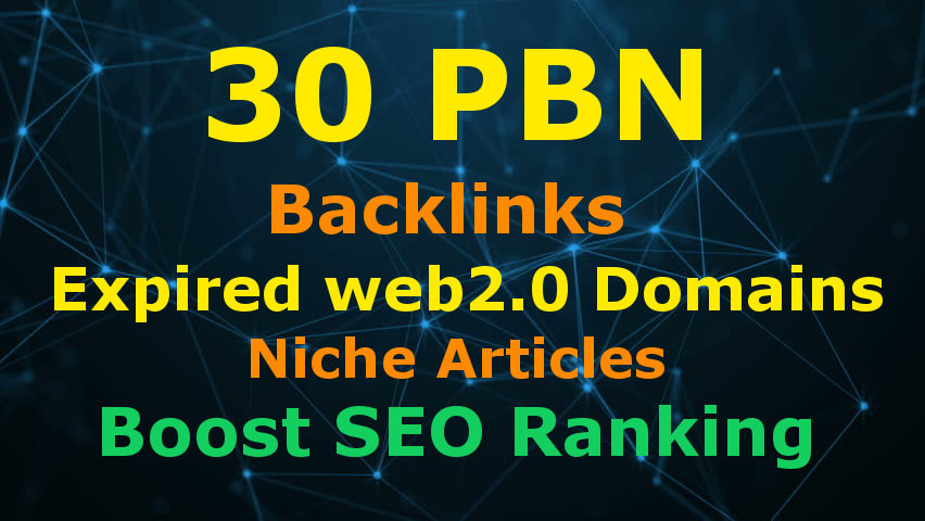 Post 30 HIGH PBN Web2 BACKLINKS High Da Pa