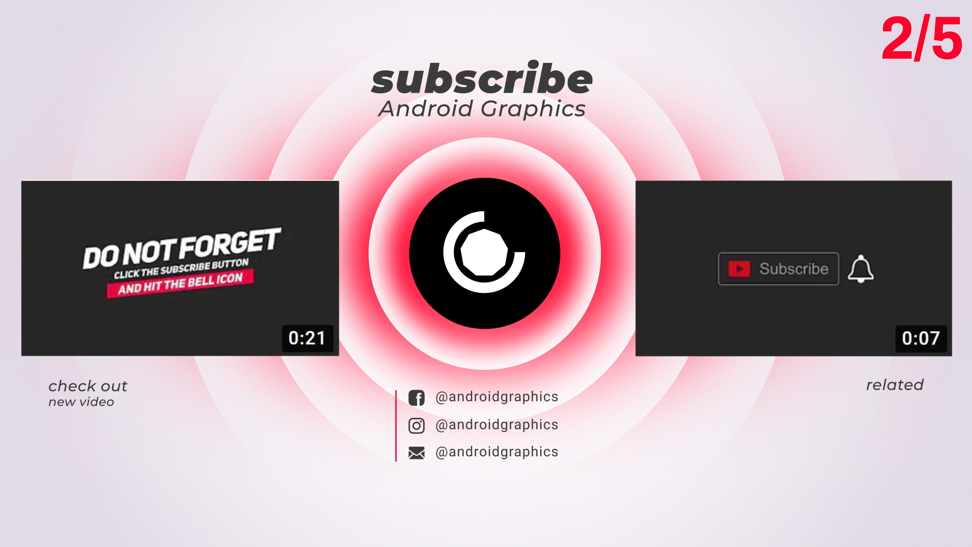 I Will Do Youtube Outro End Screen Animation