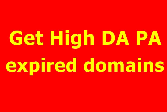 I will research expired domain for you with high metrics