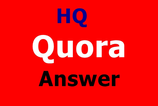 Offer 50 Quora answer for guaranted targeted traffic