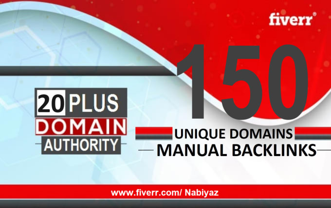 150 Unique Domain Dofollow Backlinks High Authority with DA Plus