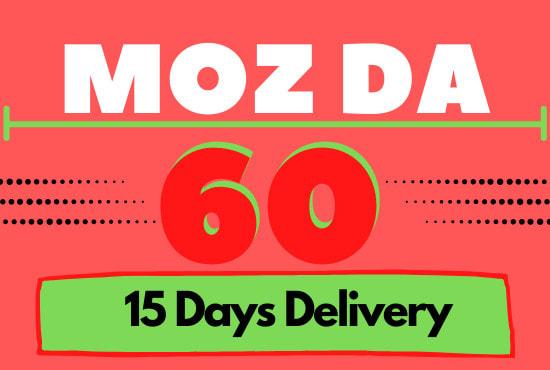 I will increase moz domain authority da 50 plus in 25 days