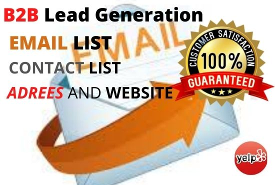 I will do B2B targeted lead generation and scrape profiles with emails
