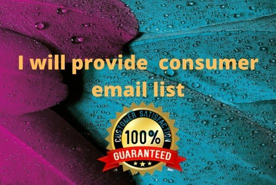 I will provide you active consumer email list for USA, CANADA and Europe country