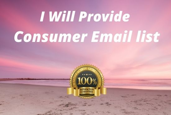 I will sent you consumer email list USA 2020