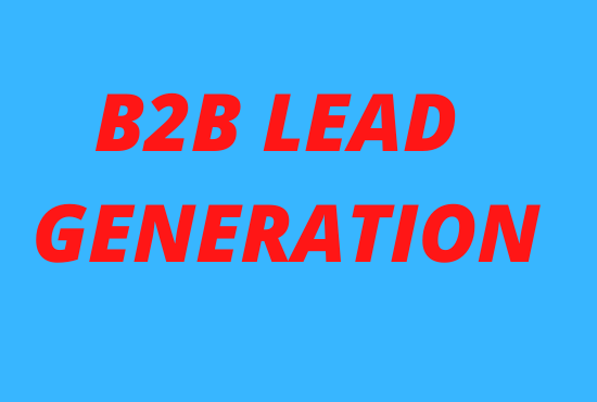 I will do your targeted b2b lead generation