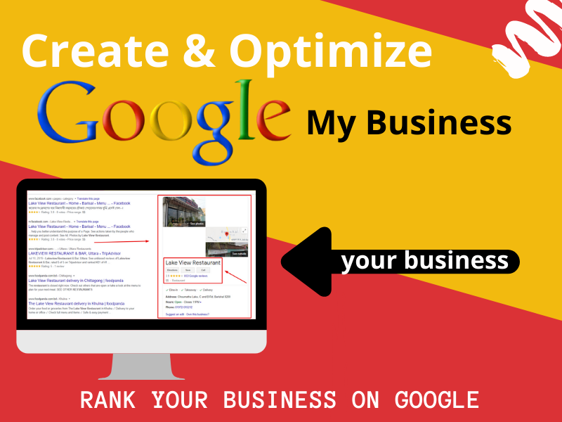 create & optimize Google My Business account for your business