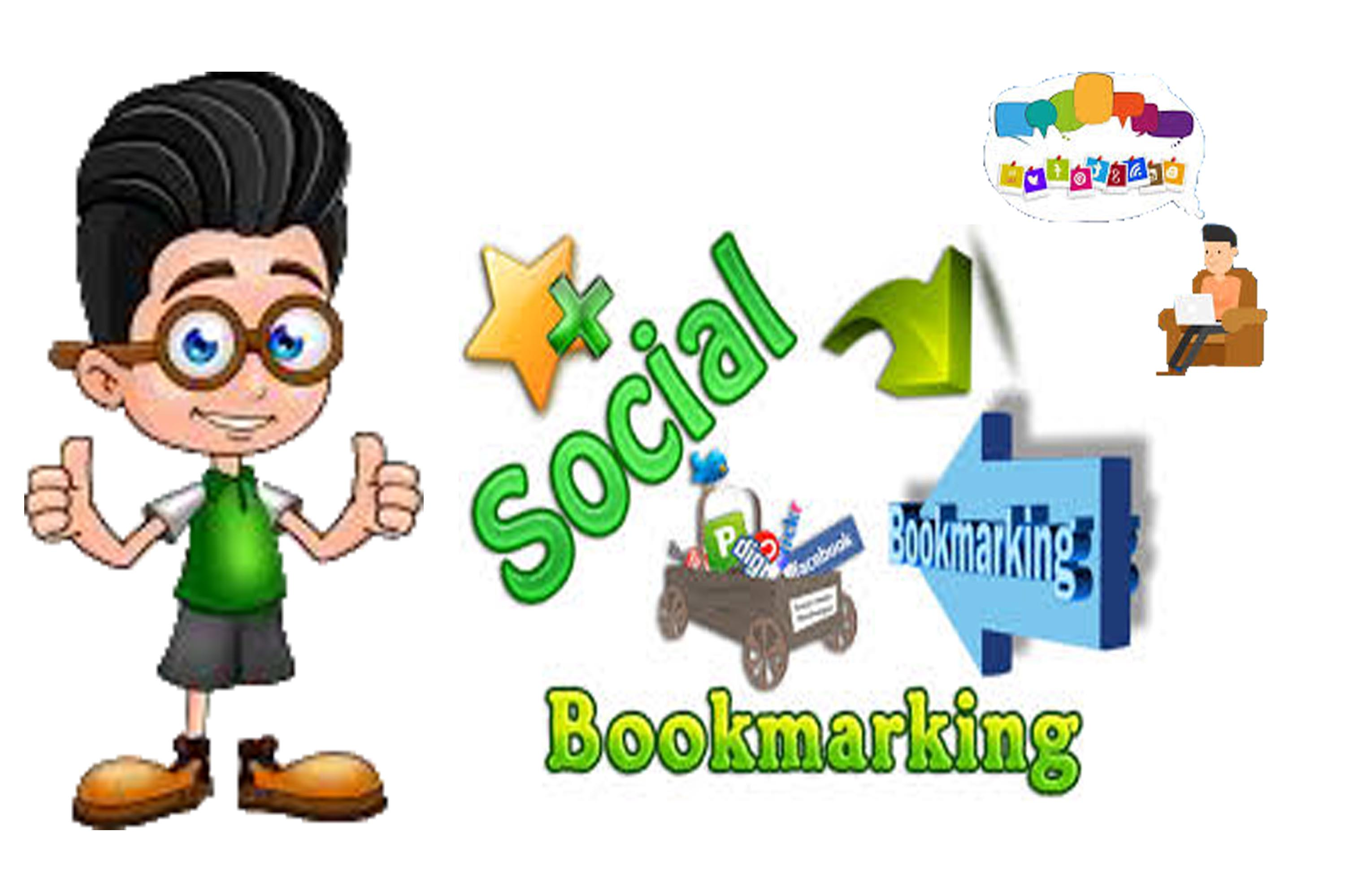 Manually Build 100 High quality Social Bookmarking Backlinks for Your Site