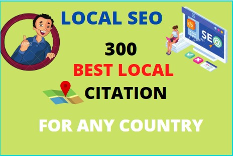 I will create manually top 300 local citation or local seo,  business listing for any country