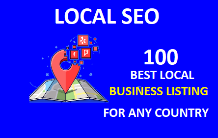 Create manually best 100 local citation or local seo,  business listing for any country