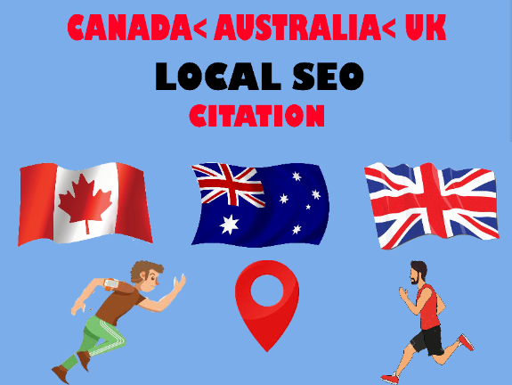 Create Live 60 top local citations Canada,  Australia,  United KIngdom for any country