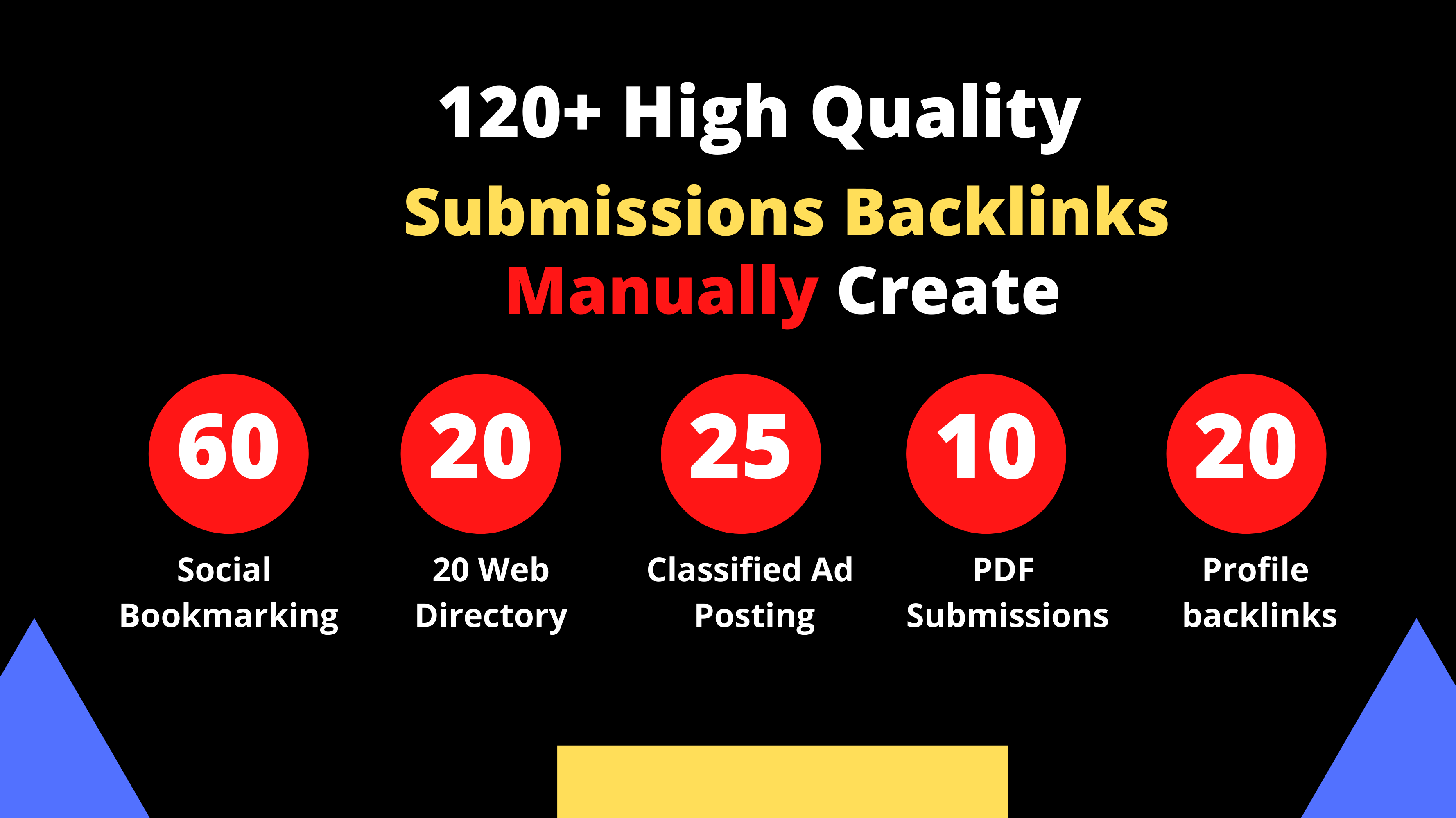 I will manually create 120+ High Quality Backlinks For your website