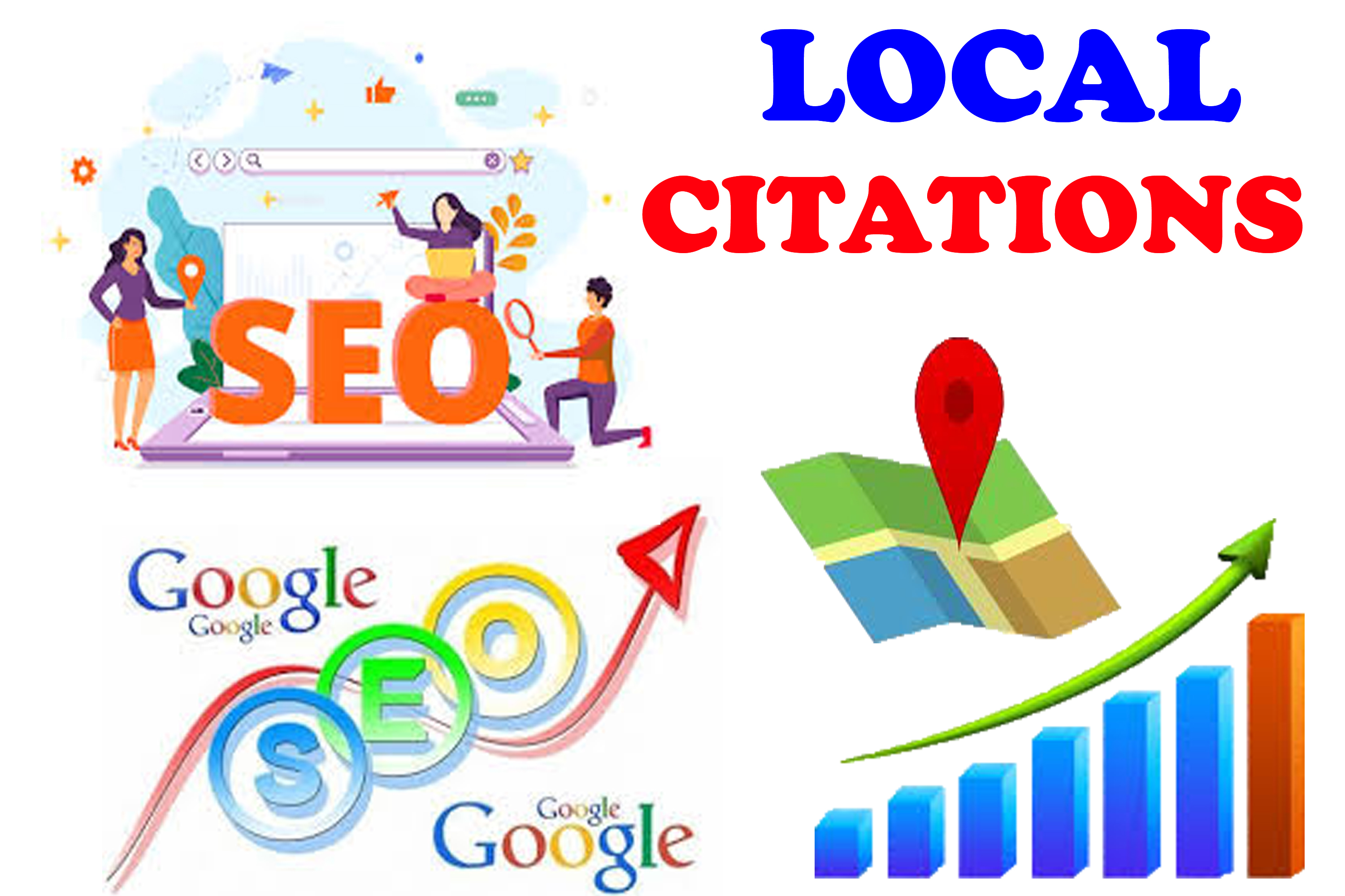 Create top 60 Live local citations Switzerland,  China,  USA,  UK,  UAE,  Canada for any country